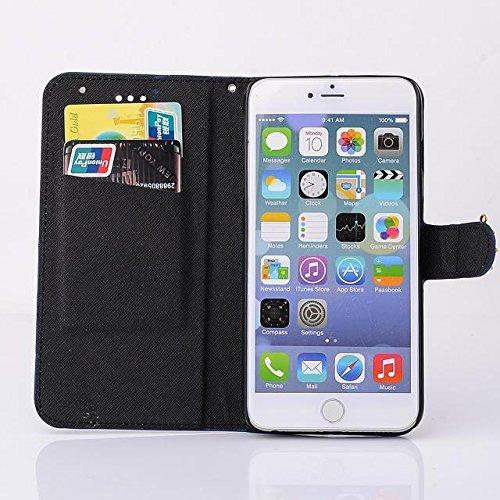 """inShang Hülle für Apple iPhone 6 iPhone 6S 4.7 inch iPhone6 iPhone6S 4.7"""", Cover Mit Modisch Klickschnalle + Errichten-in der Tasche + Zebra Stripe, Edles PU Leder Tasche Skins Etui Schutzhülle Stände stripe ship black"""