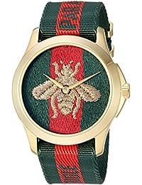 6cedca883239b Reloj Gucci YA126487A Rojo Acero 316 L Unisex