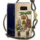 DeinDesign Samsung Galaxy S8 Plus Carry Case Hülle zum Umhängen Handyhülle mit Kette Tiki Hawaii Palmen Schiff