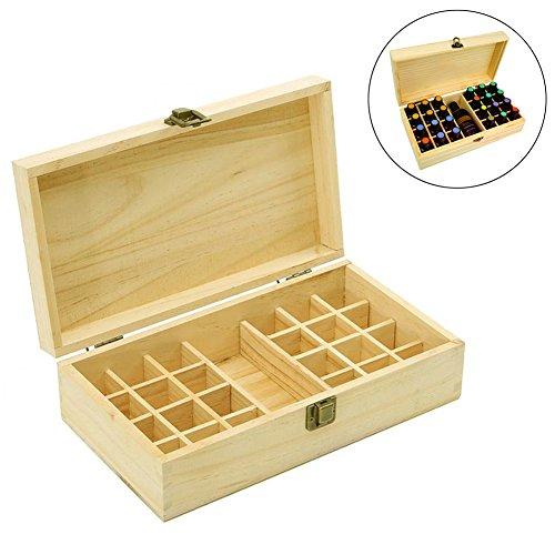 Ätherisches Öl Holz Speicher Geschenk-Box für 24Flaschen mit der Kapazität von 5ml, 10ml,...