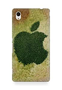 Amez designer printed 3d premium high quality back case cover for Sony Xperia M4 (Apple green line)