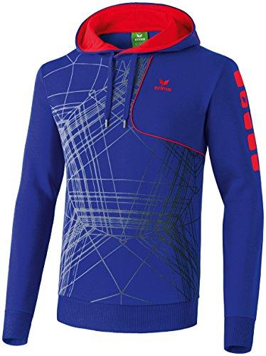 erima Kinder Sweatshirt Hoodie Player 3.0, Indigo Blau/Rot, 128, 607526 (Kinder Blau Hoodies)