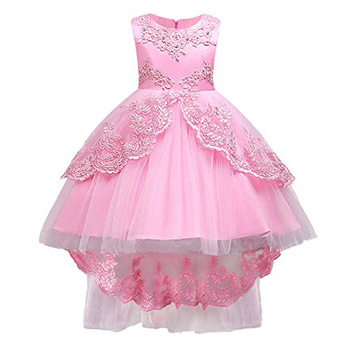 HUAANIUE Kind Baby Blumenmädchenkleid Hochzeits Festzug Kleid Maedchen Prinzessin Kleid
