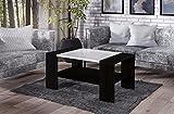 Endo Couchtisch Otello Wohnzimmertisch 110x60cm Tisch 110cm mit Ablage bi colour // Wenge