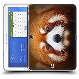 Head Case Designs Panda Rojo Caras Animales 2 Caso de Gel Suave para Samsung Galaxy Tab 4 10.1