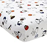 Best Lambs & Ivy Bedtime Originals Lambs & Ivy ropa de cama cuna - Bedtime Originals Snoopy Sports Sheet by Bedtime Originals Review