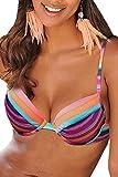 Lascana Bikini Oberteil Mix-Kini, bunt, D36