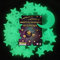 Twinkle Twinkle Super Bright Stars, The Ultimate Glow-in-the-Dark Stars, 49 Stars and 1 Moon