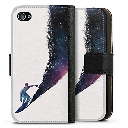 Apple iPhone X Silikon Hülle Case Schutzhülle Surfer Universum Welle Sideflip Tasche schwarz