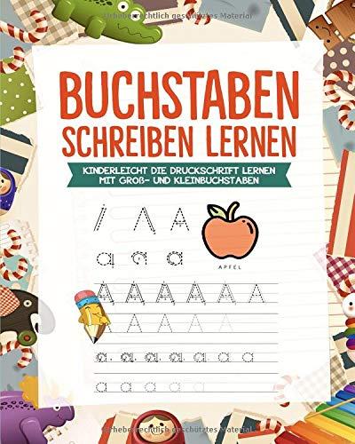 Buchstaben lernen: Alphabet lernen mit Druckschrift - Druckbuchstaben ABC Vorbereitung für die Grundschule (Lernen Kinder Spielzeug)