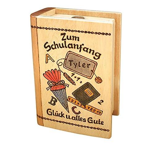 Geschenk zur Einschulung - Spardose mit Namen - Einschulungsgeschenk für Mädchen und Jungen, ein personalisierte Geschenkidee zum (Personalisierte Einladungen)