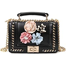 ALIKEEY Mujeres De La Manera Mini Bead Beach Bag Shoulder Bags Lnclined Coin Imprimieron El Bolso