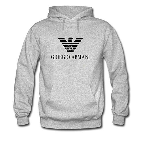 Giorgio Armani -  Felpa con cappuccio  - Uomo Gray X-Large