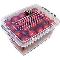 Unbekannt Christmas Gifts–Bolas de Navidad, plástico, plástico, rojo, 70x
