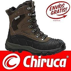 Botas bota Chiruca Patagonia 02 color marrón y verde piel - Talla 43