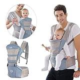 JAYE Multifunktionaler Taillenhocker Summer Baby Carrier Soft Sling, 360 Grad 3D Atmungsaktiver, weicher, Verstellbarer Taillenhocker