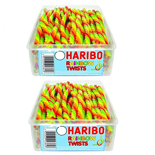 2-x-full-tubs-haribo-sweets-party-favours-treats-candy-box-wholesale-rainbow-twists