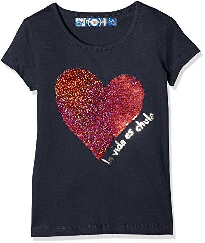 Desigual Mädchen T-Shirts TS_Chivite, Blau (Navy 5000), 140 (Herstellergröße:9/10)
