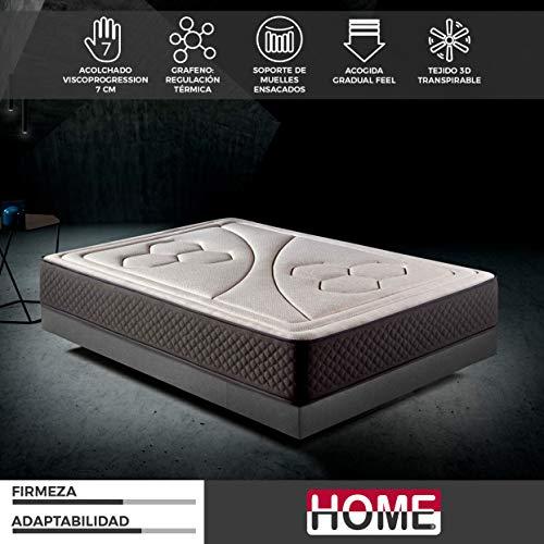 Komfortland Colchón 135x190 muelles ensacados Memory Vex Spring de Altura 26cm, 7cm de ViscoVex Grafeno