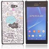 Voguecase Funda Carcasa Duro Tapa Case Cover Para Sony Xperia M2 (OKAY) + Gratis aguja de la pantalla stylus universales