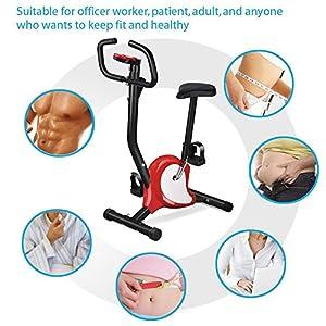 tinkertonk Gym Fitness Master Exercise Bike Cardio Workout Adjustable Resistance Red