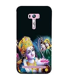 Fiobs Designer Back Case Cover for Asus Zenfone Selfie ZD551KL (Shriram Pray Shiva Ram Mahadev Parvati)