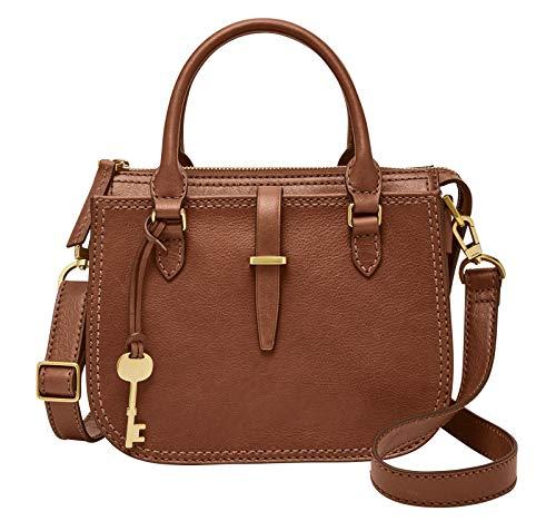 Fossil Damen Handtasche Tasche Ryder Mini Satchel Leder Braun ZB7587-200