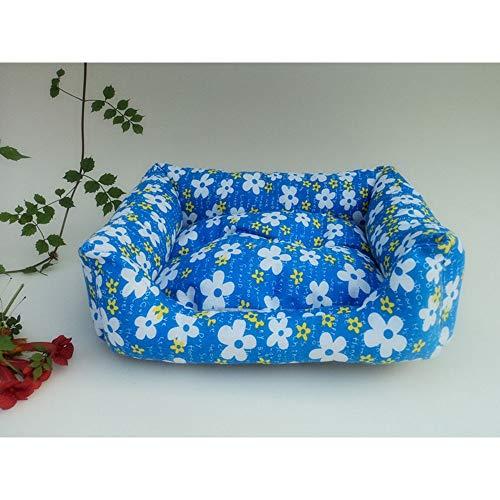 Jack's de big shop Gedruckte Leinwand Pet Nest Pet Bed Sofa Positive und Negative Dual-Use-Matte Leicht zu reinigen (Farbe, Size : 40 * 48 * 11cm) (Fr Leinwand)