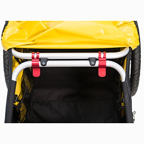 Burley  Fahrradlastenanhänger Nomad, schwarz/gelb, One Size, 3091960000 - 6