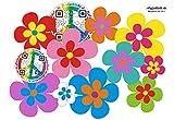 Autocollant pour voiture, Design?: Fleurs Mini 08?51Pièces?Mélange multicolore.