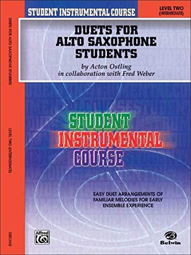 Student Instrumental Course Duets for Alto Saxophone Students: Level II