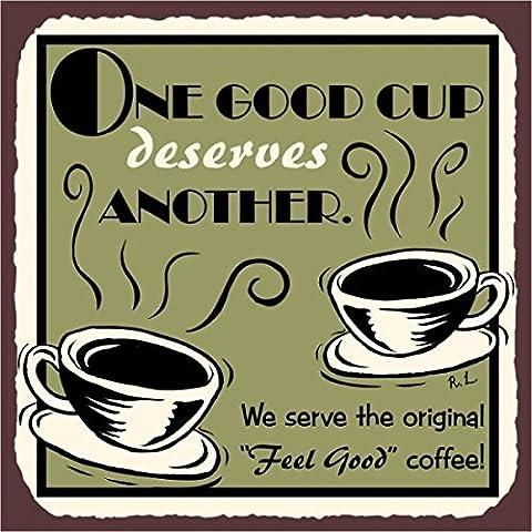 Una buona tazza di caffè Vintage metallo Art Cafe Diner Retro Metal tin sign 30,5x 30,5cm segni in metallo quadrato