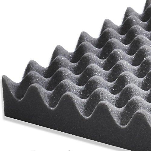 2 x Selbstklebende Akustik-Noppenschaum-Matten Noppenschaumstoff je 1000x500x30 mm