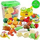deAO Juego de Comida, Frutas y Verduras para Cortar Conjunto Infantil...