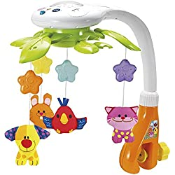 Winfun - Móvil de cuna musical & 4 animales colgantes (ColorBaby 44241)