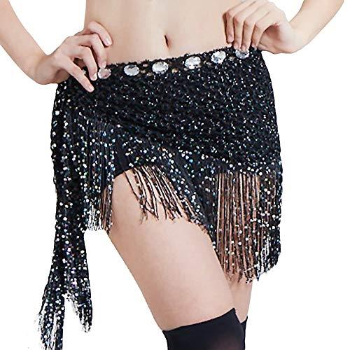 Bmeigo Flecos Danza Vientre Mujer Bufanda Cadera Borla