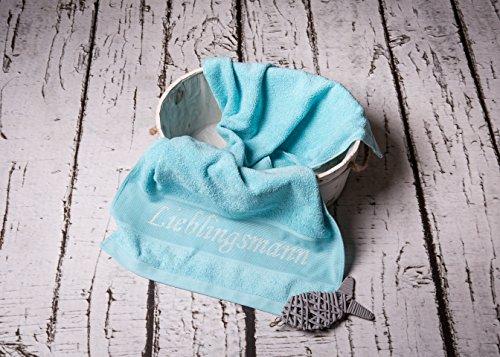 Handtuch mit Schriftzug Lieblingsmann