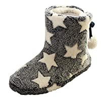 Blustercool Soft Warm Winter Slippers Home Mute Cute Soft Plush Ball Women Interior Boots