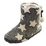 Holeider Winter Hausschuhe Damen Pantoffeln Drinnen Aus High Density Memory-Baumwolle Wärme Plüsch Bequem Home Rutschfeste Haus Slippers Fleece-Futter Innenstiefel,