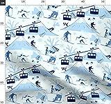 Berge, Ski, Skifahren, Winter, Schnee Stoffe - Individuell