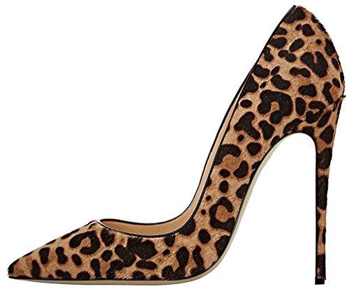 Calaier Femme Camuseum 12CM Aiguille Glisser Sur Escarpins Chaussures multicolore B