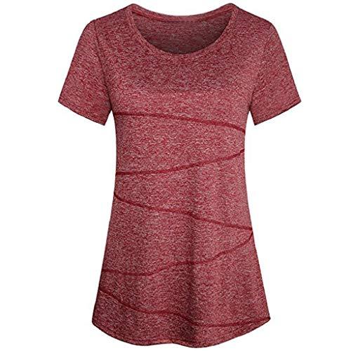 Sasstaids Sommer heißes Kleid,Damen Fahsion Bluse Kurzarm Yoga Oberteile Activewear Running Workout ()