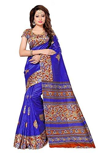 blue Designer kalmakari Mysore Silk Saree sari, Bollywood Kleid Salwar Kameez hochzeit Indien Kleid, Goa, Hippie, sexy