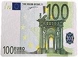 Tapis de souris avec l'image des billets euros. Convient également pour les souris optiques et avec un verso caoutchouc antidérapant. Disponible avec les images de 100, 200et 500euros. Dimensions: 26x 19x 0,4cm.