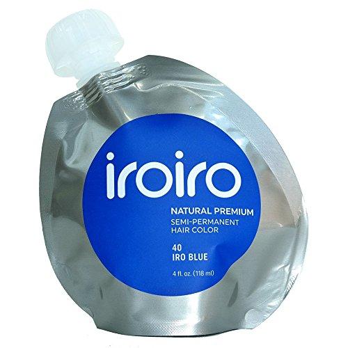 Iroiro Premium Natural Semi-permanenten Haar Color 40Iro-Blau 4Oz