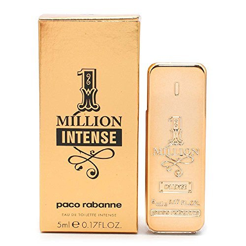 Paco Rabanne 1-Million Intense Eau de Toilette Splash On .17 Ounce Mini