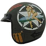 Vega X380 Helmet with Bombs Away Graphics (Flat Green, Small) by Vega Helmets