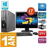 Fujitsu PC Esprimo E700 E90+ SFF Core I7-2600 16 GB Scheibe 2 zu Wifi W7 Bildschirm 19