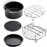 owikar Juego de cesta de freidora del aire del hogar accesorios para horno Horno de Pizza placa parrilla Pot Mat multifuncional cocina suministros