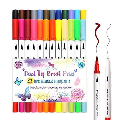 24 Colores Rotuladores Doble Punta Rotuladores Doble
